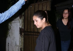 Aditi Rao Hydari and Huma Qureshi Spotted At Shrishti Behl Aarya's Home
