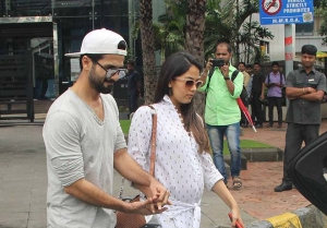 Shahid Kapoor With Wife Mira Rajput Spotted At Yauatcha Bkc