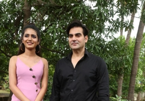 Priya Prakash Varrier and Arbaaz Khan on sets of Sridevi Bungalow
