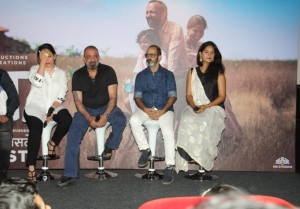 Sanjay Dutt and Manyata Dutt At Trailer Launch Of His Marathi Film 'BABA'