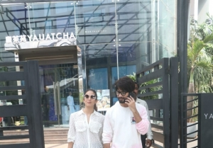 Shahid Kapoor and Mira Rajput spotted at Yauatcha in BKC, Mumbai