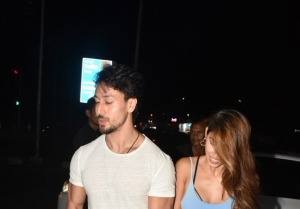 Tiger Shroff and Disha Patani snapped at Bastian in Bandra