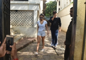 Arjun Kapoor and Malaika Arora spotted at a clinic in Juhu, Mumbai