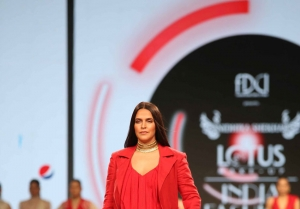 Neha Dhupia Walks The Ramp At Lotus Fashion Week 2019