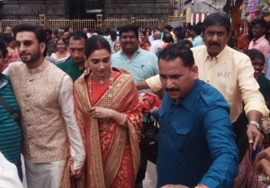 Deepika Padukone and Ranveer Singh at Tirupati Temple on their first Wedding Anniversary