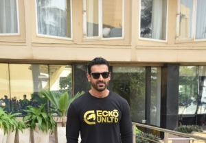 John Abraham and Ileana D'Cruz snapped promoting their film Pagalpanti