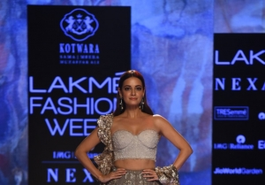 Dia Mirza walks the Ramp at Lakme Fashion Week 2020