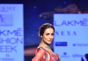Malaika Arora walks the Ramp at Lakme Fashion Week 2020
