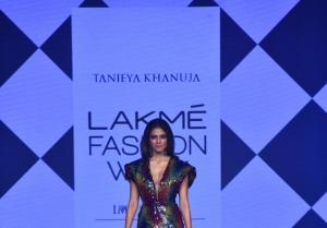 Malavika Mohanan walks the Ramp at Lakme Fashion Week 2020