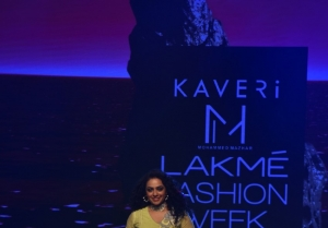 Nitya Menon walks the Ramp at Lakme Fashion Week 2020