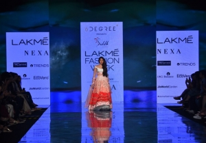 Rhea Chakraborty walks the Ramp at Lakme Fashion Week 2020