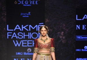 Saiee Manjrekar walks the Ramp at Lakme Fashion Week Summer/Resort 2020