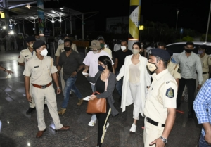 Deepika Padukone with Ranveer Singh at Dabolim Goa Airport