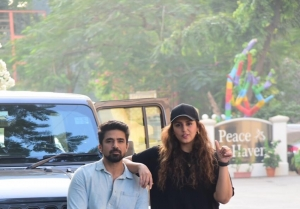 Huma Qureshi and Saqib Saleem snapped in Bandra