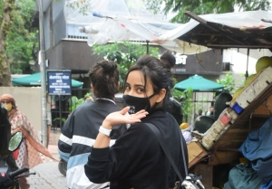 Neha Sharma and Aisha Sharma spotted in Bandra