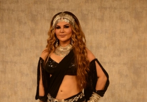 Rakhi Sawant spotted at a studio for the launch of her music cover 'Dream Mein Entry'