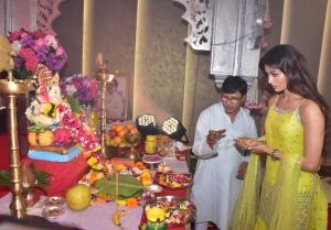 Urvashi Rautela at T series Ganapati Darshan