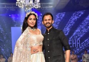 Hina Khan walk the ramp at the Bombay Times Fashion Week 2021