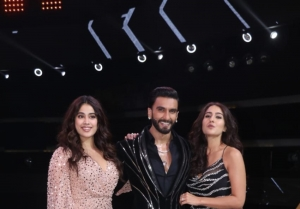 Sara Ali Khan and Janhvi Kapoor on the sets of Ranveer Singh's Show The Big Picture