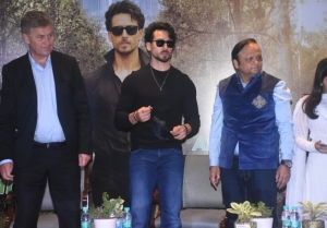 Tiger Shroff at the launch of Global Campaign On Urban Forests and Climate Change