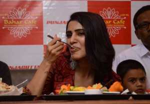Samantha Akkineni Launches Cafe Bahar Restaurant At Panjagutta