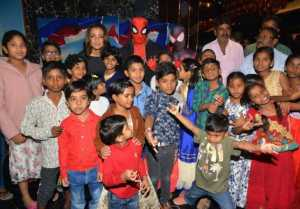 Spiderman Special Screening For Orphan Children at AMB Cinemas