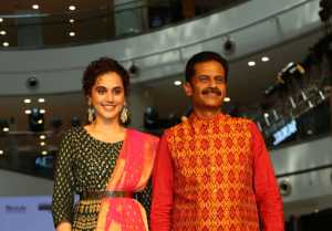 Taapsee Pannu walks the ramp for a lifestyle brand, Melange in New Delhi