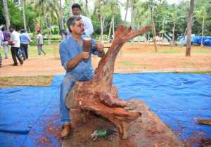 "Vishnu Manchu to host India's 36 Celebrated Wood Carving Artists Live Work ""Jnana' in Tirupati"