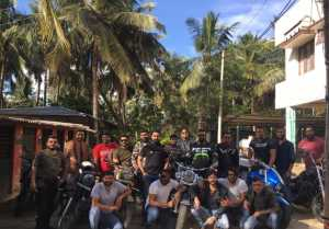 Darshan Enjoys Ride With Gang In Madikere