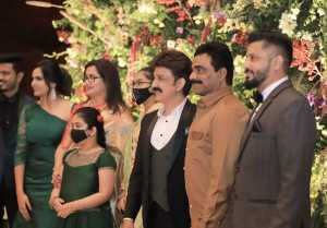 Ramesh Arvind Daughter Niharika  Wedding Reception Photos
