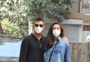Virat Kohli and Anushka Sharma snapped at a clinic in Khar