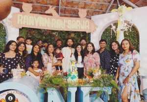 Meghana Raj son Ryan son 1 st Birthday Celebration