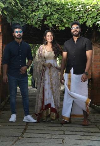 Mahat Raghavendra and Aishwarya Dutta In Venkat Prabhu's Next Untitled Movie Pooja
