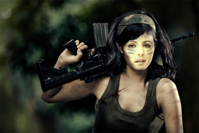 Katrina as a Soldier