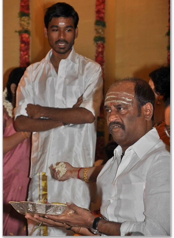 Dhanush with rajni