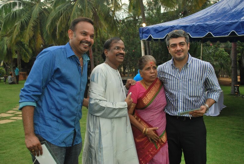 Ajith with Venkat Prabhu Family