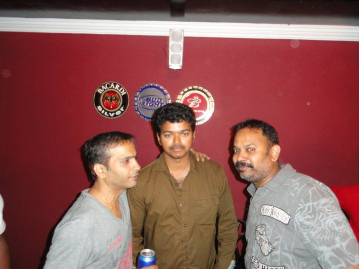 Vijay, SPB Charan & Venkat Prabhu at Premji's Birthday