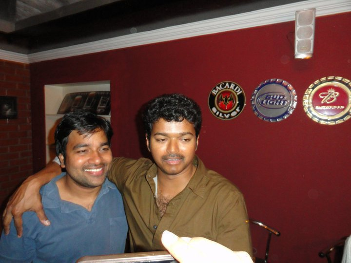 Vijay & Shiva at Premji Amaren's Birthday Party