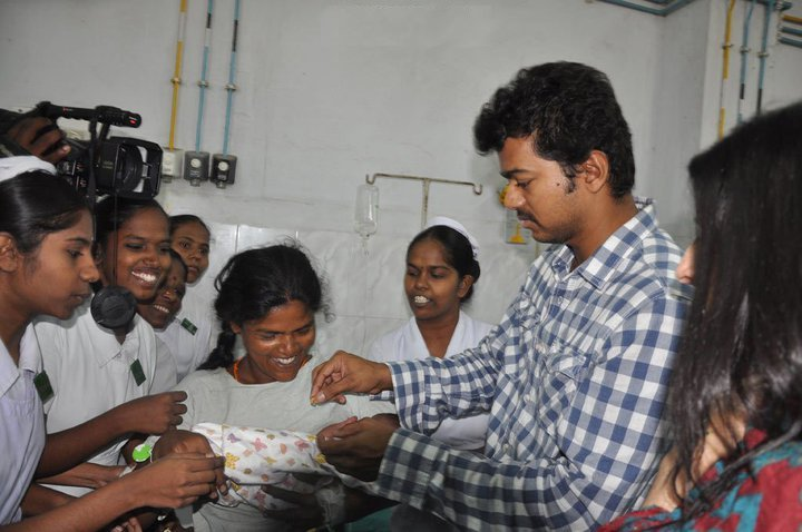 Vijay at Egmore Hospital