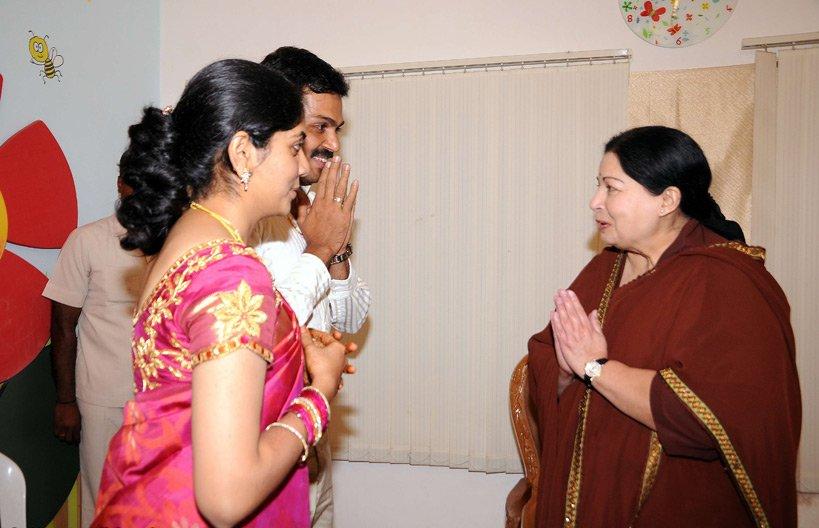 CM Jayalalitha wishes Karthi & Ranjani