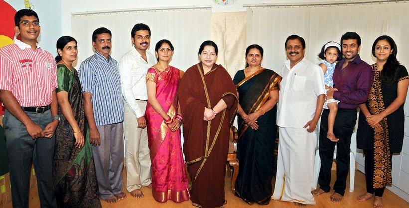 CM Jayalalitha visited Karthik Sivakumar House