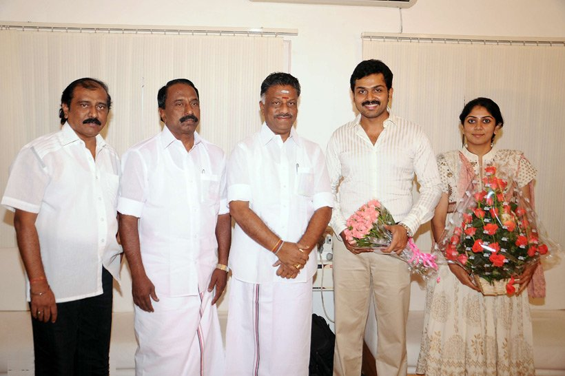 Karthi & Ranjani with Minsiters