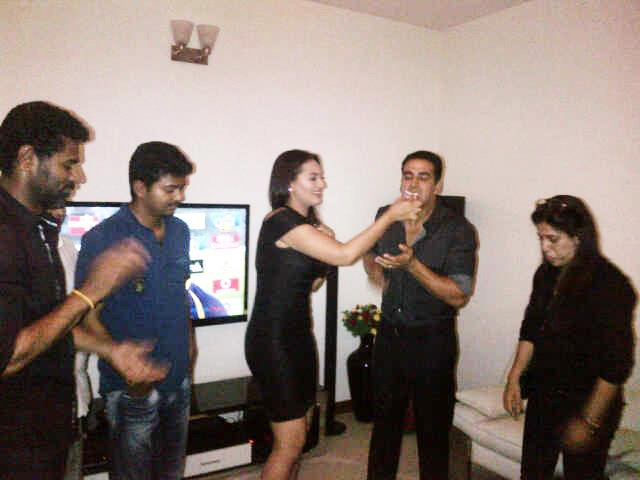 Vijay at Rowdy Rathore Party