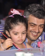 Ajith's & his Daughter Anoushka