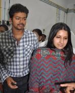 Vijay & his wife Sangeetha