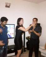 Vijay at Rowdy Rathore Party