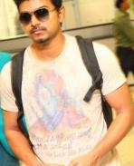 Vijay at Kuala Lumpur International Airport, Malaysia
