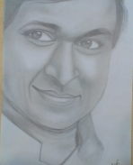Dr Rajkumar pencil sketch