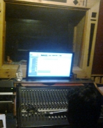 1st Song recording pic in studio