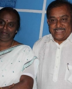 Rare  & Unseen pic of Nada Brahma Hamsalekha with his wife Latha.